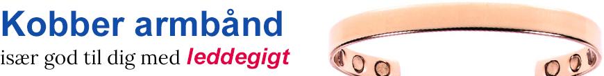 Kobber magnetarmbånd - Køb magnet kobber armbånd online!