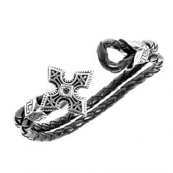 Læderarmbånd (Det harmoniske kors)