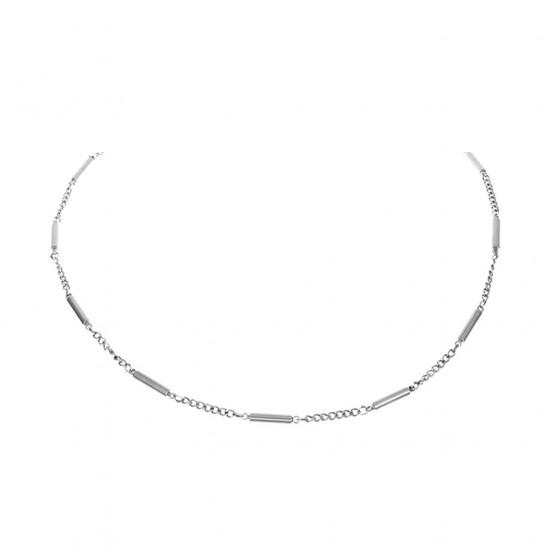 Magnethalskæde (stål) Sølvtone