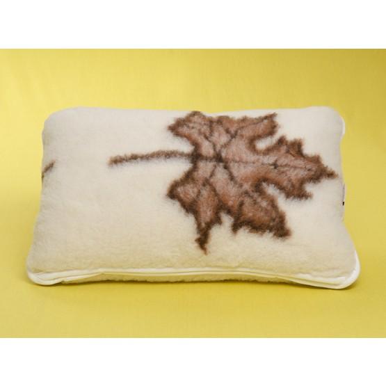 Pude (Merino) 40 x 60 cm m/ bladmønster