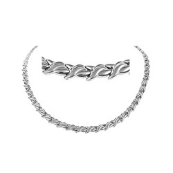 Magnethalskæde (stål) Egen skønhed