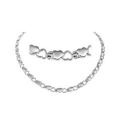 Magnethalskæde (titanium) Den store Kærlighed